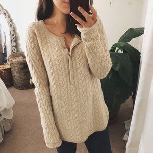 SOFT SURROUNDINGS Beige 100% Cashmere Sweater XL